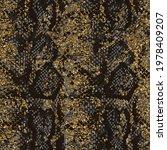 golden snake skin pattern... | Shutterstock .eps vector #1978409207