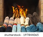 feets of a family wearing... | Shutterstock . vector #197844065