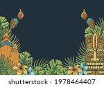 surfing tiki mask hawaii wooden ... | Shutterstock .eps vector #1978464407
