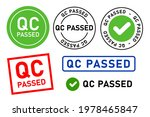 qc passed pass quality control...   Shutterstock .eps vector #1978465847