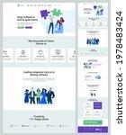 one page website design...   Shutterstock .eps vector #1978483424
