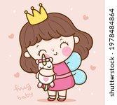 cute girl princess angel vector ... | Shutterstock .eps vector #1978484864