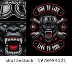 colorful biker patch with a... | Shutterstock .eps vector #1978494521