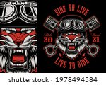 colorful biker patch with a... | Shutterstock .eps vector #1978494584