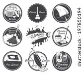 set of cleaning service emblems ... | Shutterstock .eps vector #197850194