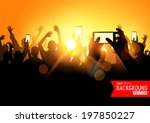 festival crowd vector  people... | Shutterstock .eps vector #197850227