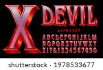 Devil Alphabet  A Red And...