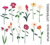 vector garden and field spring... | Shutterstock .eps vector #1978540001