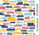 seamless pattern with colorful... | Shutterstock .eps vector #197854049