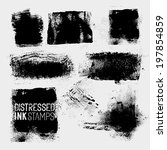 distressed vector stamps  a... | Shutterstock .eps vector #197854859
