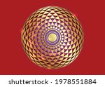 torus yantra  gold hypnotic eye ... | Shutterstock .eps vector #1978551884