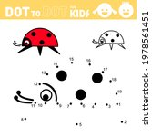 ladybug. dot to dot games for... | Shutterstock .eps vector #1978561451