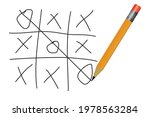 playing tic tac toe vector... | Shutterstock .eps vector #1978563284