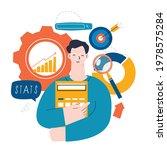 business statistical data... | Shutterstock .eps vector #1978575284