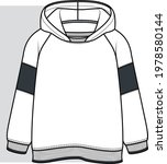 hoodie sweatshirt design flat... | Shutterstock .eps vector #1978580144