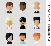 colorful avatars icons set in... | Shutterstock .eps vector #197869871