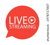 live broadcasting. the red... | Shutterstock .eps vector #1978717007