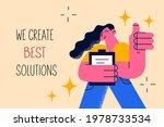 we create best solutions...   Shutterstock .eps vector #1978733534
