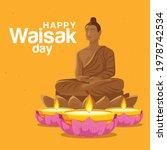 Happy Vesak Day Holiday  Buddha ...