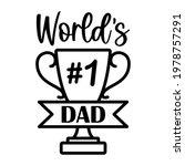 vector card worlds number 1 dad ... | Shutterstock .eps vector #1978757291