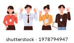 young male and female office... | Shutterstock .eps vector #1978794947