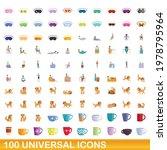 100 universal icons set.... | Shutterstock .eps vector #1978795964