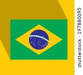 Brasil plana icono con la bandera brasileña. Vector. EPS10