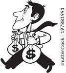 man carrying money   Shutterstock .eps vector #197881991