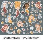 vector set of cute mermaids... | Shutterstock .eps vector #1978826024
