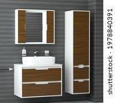 brown bathroom furniture.... | Shutterstock . vector #1978840391