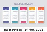 table chart template. price...