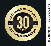 extended warranty abstract '30... | Shutterstock .eps vector #1978872641
