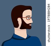 portrait of a dark haired man... | Shutterstock .eps vector #1978884284