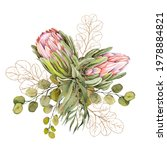 beautiful exotic protea flower... | Shutterstock . vector #1978884821
