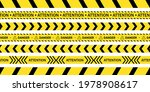 yellow tapes with black stripes ...   Shutterstock .eps vector #1978908617