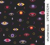 evil eyes seamless pattern.... | Shutterstock .eps vector #1978925294