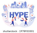 hype marketing. tiny people... | Shutterstock .eps vector #1978933301