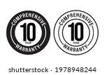 10 year comprehensive warranty  ... | Shutterstock .eps vector #1978948244