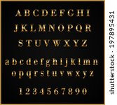 vector gold coated alphabet... | Shutterstock .eps vector #197895431