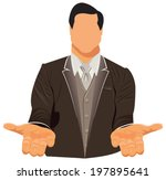 vector design of businessman in ... | Shutterstock .eps vector #197895641