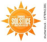 summer solstice. longest day of ... | Shutterstock .eps vector #1978961381