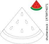 watermelon tracing worksheet ... | Shutterstock .eps vector #1978974071