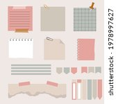 paper sticky notes with...   Shutterstock .eps vector #1978997627