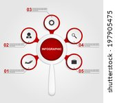 abstract infographic with a...