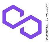polygon matic token new symbol...   Shutterstock .eps vector #1979138144