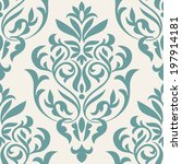 damask beautiful background... | Shutterstock .eps vector #197914181