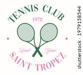 retro tennis club vector art... | Shutterstock .eps vector #1979158544