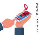 rent car  concept. man holding... | Shutterstock .eps vector #1979165267