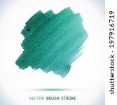 vector watercolor red ink spot. ... | Shutterstock .eps vector #197916719