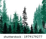 illustration with fir forest... | Shutterstock .eps vector #1979179277